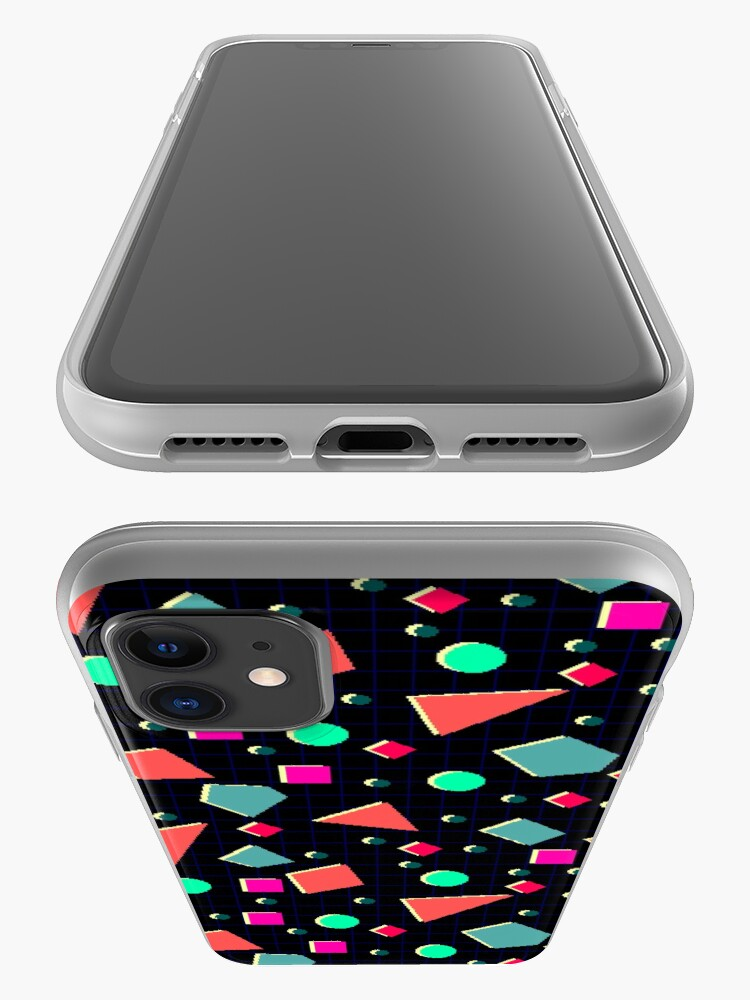 Alternate view of Neonretro Pixel Pattern iPhone Case & Cover