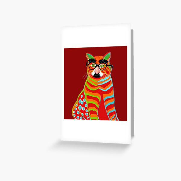 cat in disguise Greeting Card