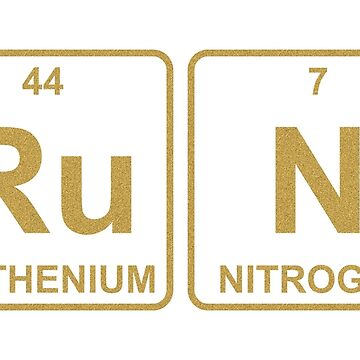 Ru N - Run - Gold - Periodic Table - Chemistry by jennyzhang