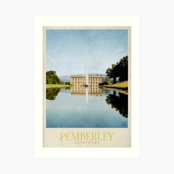 Pemberley Travel Poster Art Print