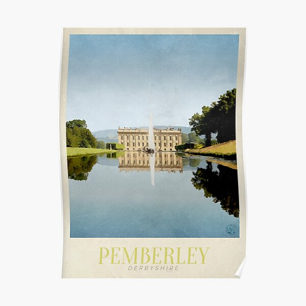 Pemberley Travel Poster Poster