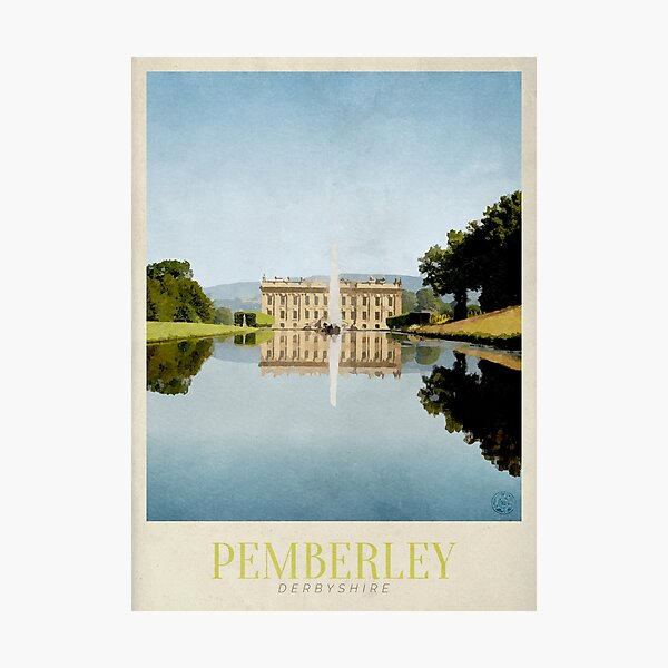 Pemberley Travel Poster Photographic Print