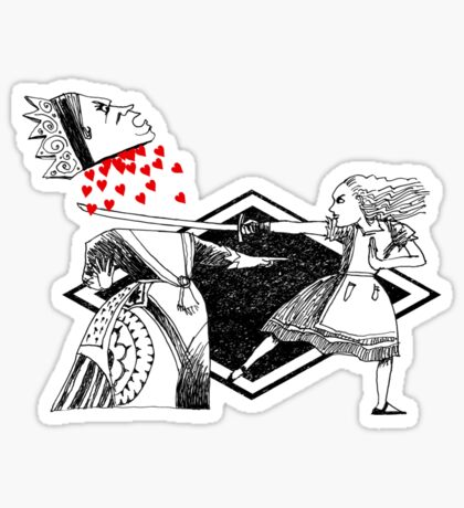 Alice vs. The Red Queen Sticker