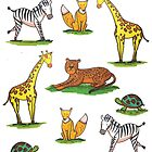 Cute tropical animals pattern by ClaireKang
