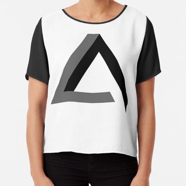 Triangle 3-d  Chiffon Top