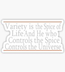 Variety Is The Spice Sticker