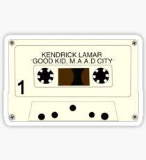good kid, maad city - cassette Sticker