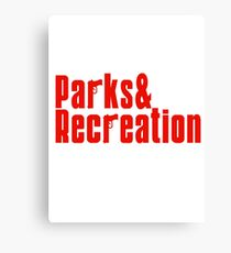 Parks and Recreation - mobster Canvas Print
