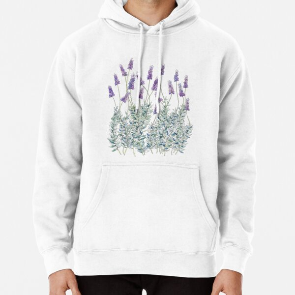 Lavender, Illustration Pullover Hoodie