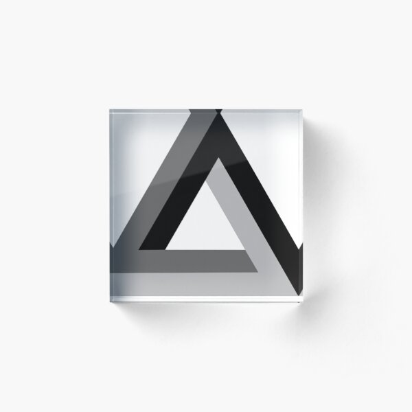 Triangle 3-d  Acrylic Block