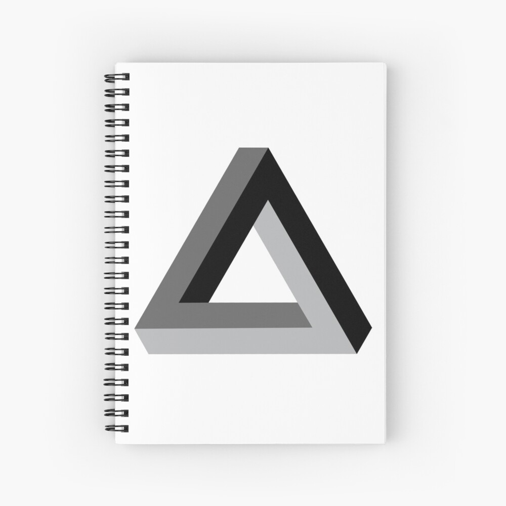 Triangle 3-d  Spiral Notebook