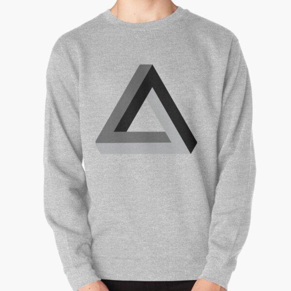 Triangle 3-d  Pullover Sweatshirt