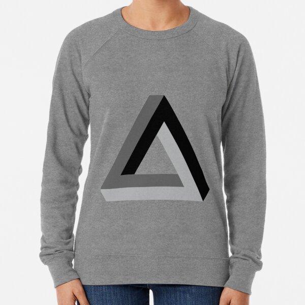 Math, Triangle 3-d Lightweight Sweatshirt