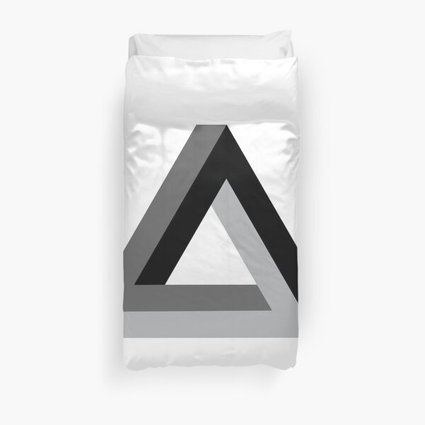 Mathematics, Triangle 3-d Duvet Cover