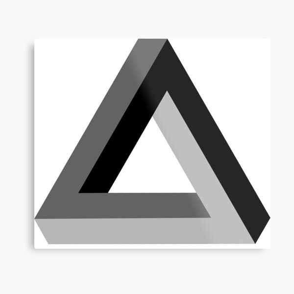 Triangle 3-d Metal Print