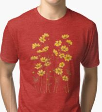 Yellow Cosmos Flowers Tri-blend T-Shirt