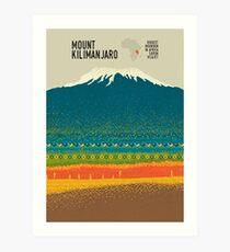 Lámina artística monte Kilimanjaro