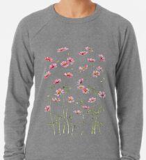 Pink Cosmos Flowers Lightweight Sweatshirt