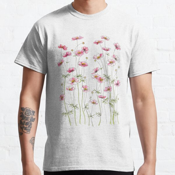 Pink Cosmos Flowers Classic T-Shirt