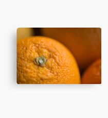 Orange Belly Button Leinwanddruck