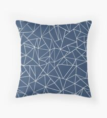 Abstraction Outline Navy Throw Pillow