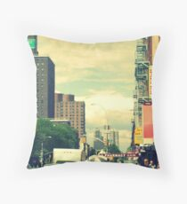 East 101 St. Old school postcard style~ Throw Pillow