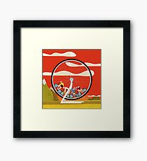 Road Cycle Racing on Hamster Power Framed Print