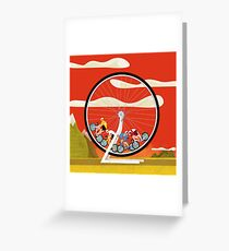 Road Cycle Racing on Hamster Power Greeting Card
