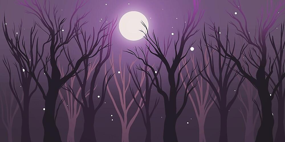 dark woods by Mel Fox