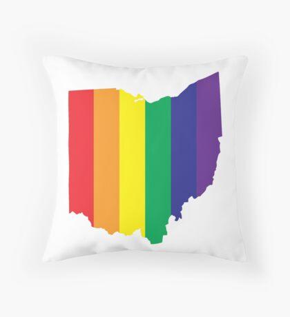 #LoveWinsOhio Throw Pillow