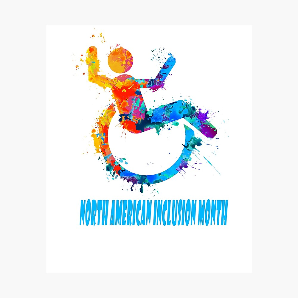 February - North American Inclusion Month Fotodruck