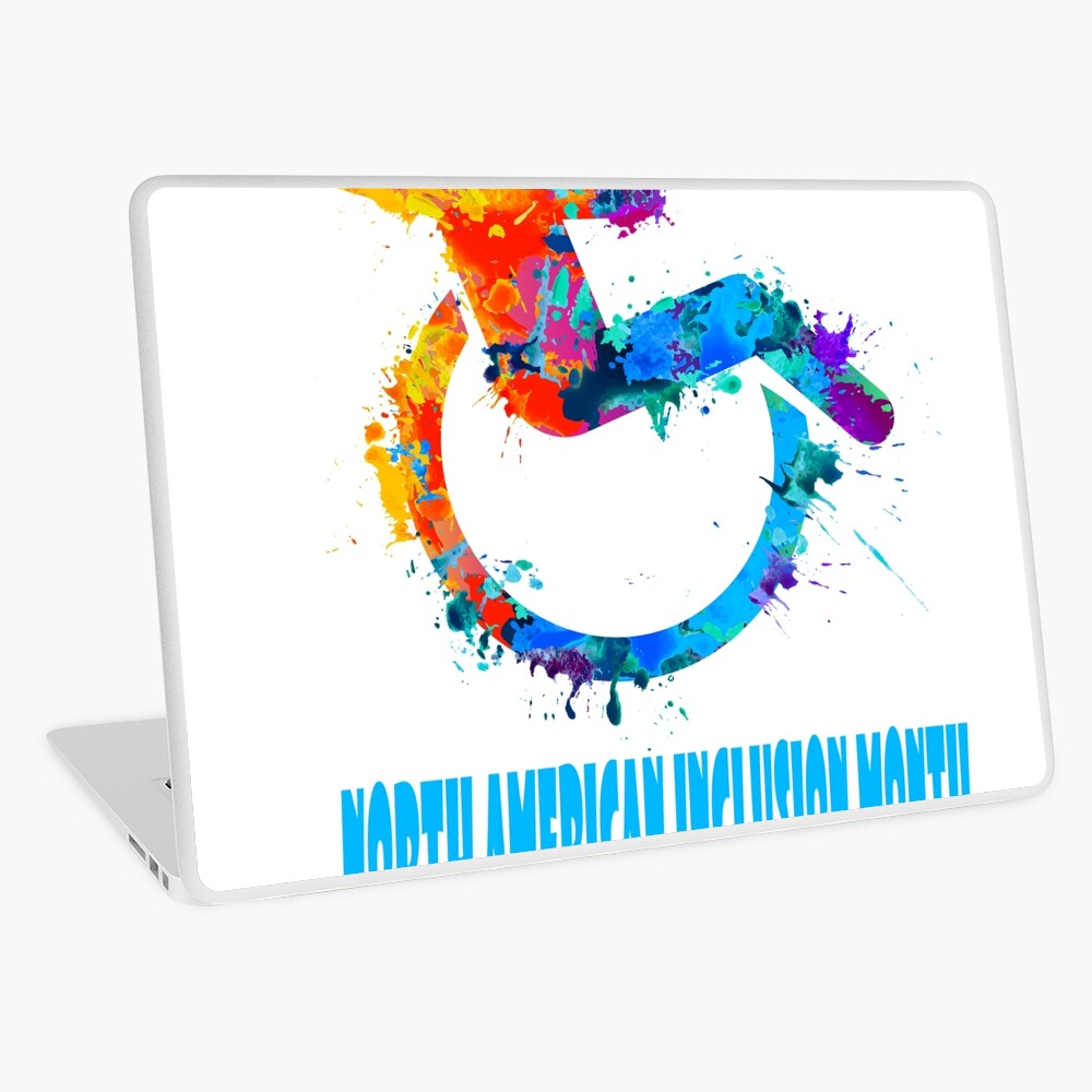 February - North American Inclusion Month Laptop Folie