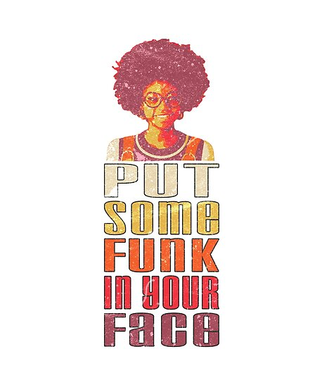 7e812ec94b173 Put Some Funk in Your Face Afro 1970s Disco Funk Vintage Groovy ...