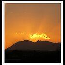 Flaming mountain by Karlientjie