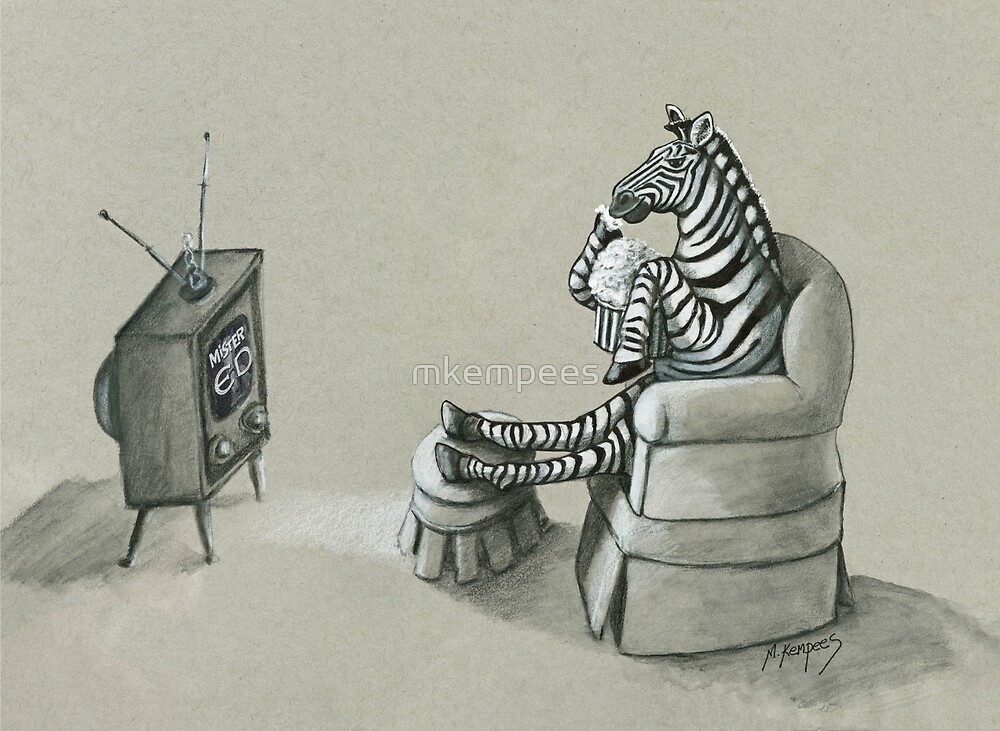 Retro Zebra by mkempees