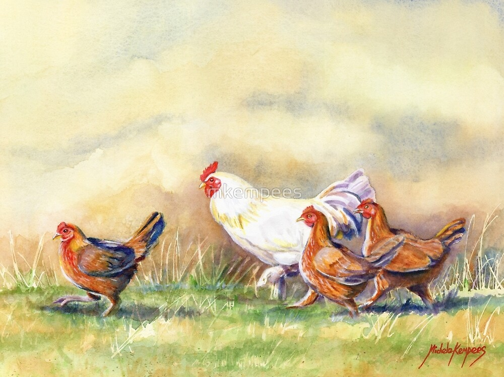 chickens by mkempees