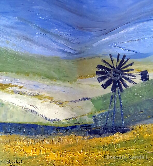 Canola in oil.  by Elizabeth Kendall