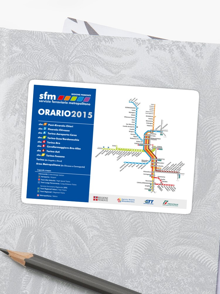 Sfm Subway Map.Torino Train Map Italy Hd Sticker
