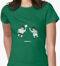Foot-T 'Hand Of God' Women's Fitted T-Shirt