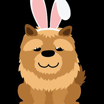 Chow-Chow Bunny Ears Happy Easter  Dog Lovers Gift by peter2art