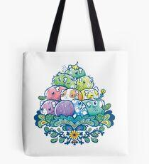 Blooming Piggy Pile  Tote Bag