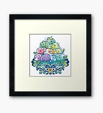 Blooming Piggy Pile  Framed Print