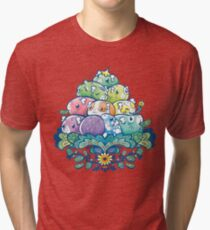 Blühender Piggy Pile Vintage T-Shirt