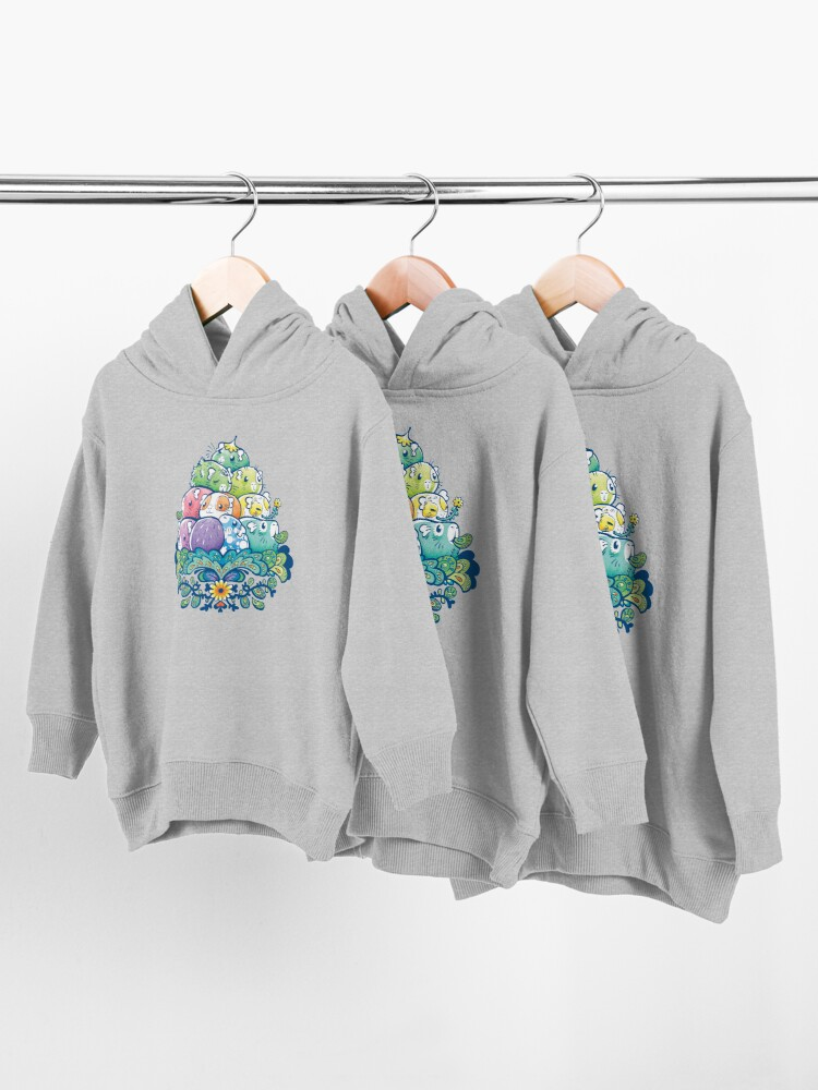 Alternate view of Blooming Piggy Pile  Toddler Pullover Hoodie