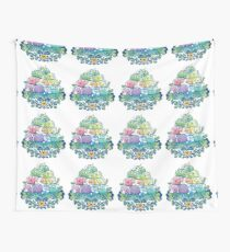 Blooming Piggy Pile  Wall Tapestry