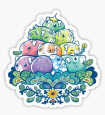 Blooming Piggy Pile  Sticker