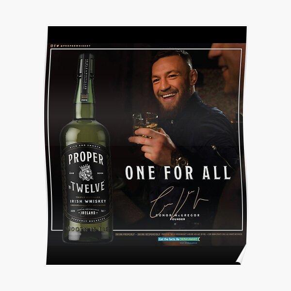 Conor McGregor Proper 12 Official Signature Logo Poster