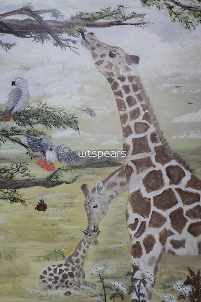 Giraffe family by wtspears