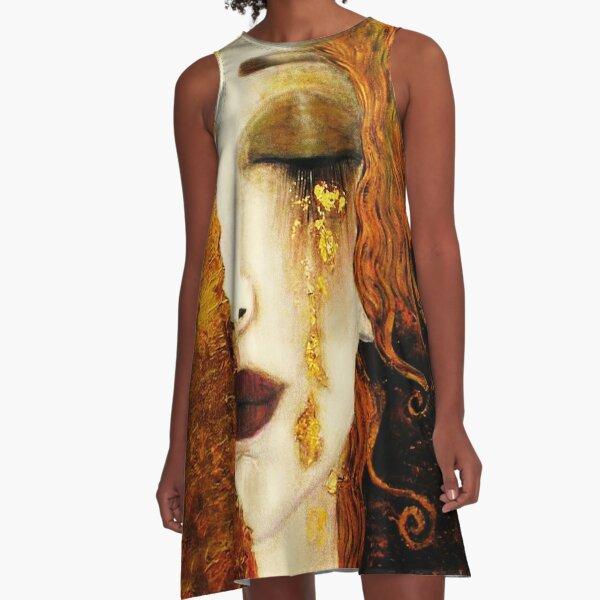 Klimt Golden Tears A-Line Dress