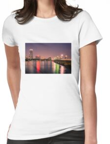 Harvard Bridge, Boston MA Womens Fitted T-Shirt